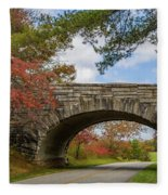 Blue Ridge Parkway Stone Arch Bridge Fleece Blanket