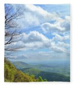 Blue Ridge Parkway Views - Rock Castle Gorge Fleece Blanket