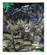 Blue Rimmed Fungus Fleece Blanket