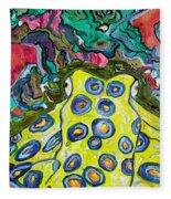 Blue Ringed Octopus Fleece Blanket