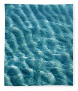 Blue Ripples Fleece Blanket