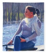 Blue River Fleece Blanket