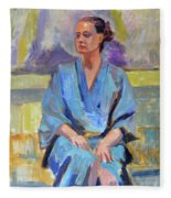Blue Robe Fleece Blanket