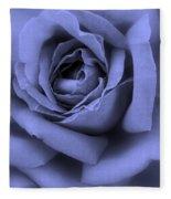 Blue Rose Abstract Fleece Blanket
