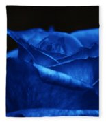 Blue Rose Fleece Blanket