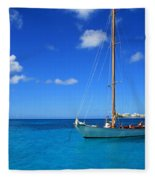 Blue Sailing Fleece Blanket