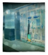 Blue Shopper Fleece Blanket