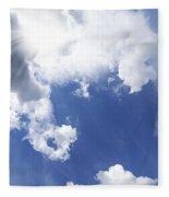 Blue Sky And Cloud Fleece Blanket