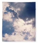 Blue Sky And Clouds Fleece Blanket
