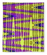 Blue Sky And Color Squares Abstract,#4 Fleece Blanket