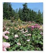 Blue Sky And Roses Fleece Blanket