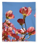 Blue Sky Art Prints Pink Dogwood Flowers 16 Dogwood Tree Art Prints Baslee Troutman Fleece Blanket