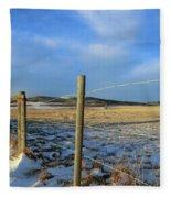 Blue Sky Fence Line Fleece Blanket