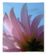 Blue Sky Floral Art Print Pink Dahlia Flower Baslee Troutman Fleece Blanket