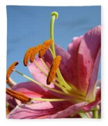 Blue Sky Florals Art Pink Calla Lily Blooming Baslee Troutman Fleece Blanket