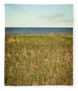 Blue Sky Green Grass Fleece Blanket