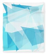 Blue Sky Polygon Pattern Fleece Blanket