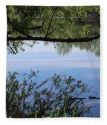 Blue Sky Reflection Fleece Blanket