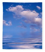 Blue Sky Reflections Fleece Blanket