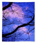 Blue Sky Through The Trees Fleece Blanket