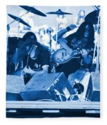 Blue Skynyrd Smoke Fleece Blanket