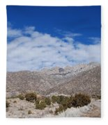 Blue Skys Over The Sandias Fleece Blanket