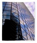 Blue Skyscrapper With A Blue Sky In New Orleans Louisiana Fleece Blanket