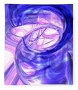 Blue Smoke Abstract Fleece Blanket