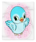 Blue Song Bird Fleece Blanket