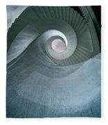 Blue Spiral Stairs Fleece Blanket
