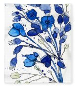 Blue Spray Fleece Blanket
