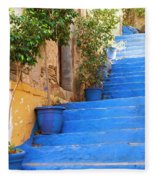 Blue Stairs Fleece Blanket