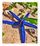 Blue Starfish Fleece Blanket