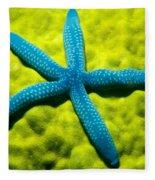 Blue Starfish On Poritirs Fleece Blanket
