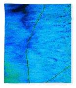 Blue Stone Abstract Fleece Blanket