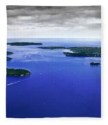 Blue Sydney Harbour Fleece Blanket