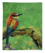 Blue Tailed Bee Eater Fleece Blanket