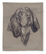 Blue Tick Coonhound Fleece Blanket
