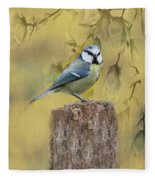 Blue Tit Bird II Fleece Blanket