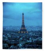 Blue Tower Fleece Blanket
