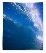 Blue Translucent Wave Fleece Blanket
