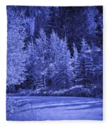 Blue Vail Fleece Blanket