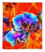 Blue Velvet Orchids Fleece Blanket