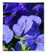 Blue Violets Fleece Blanket