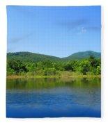 Blue Wall Lake Fleece Blanket