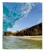 Blue Wave - Makena Beach Fleece Blanket