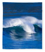 Blue Wave Fleece Blanket