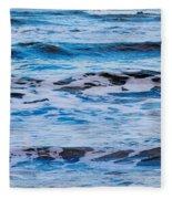 Blue Waves Fleece Blanket