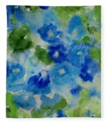 Blue Wet On Wet Fleece Blanket