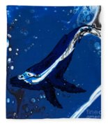 Blue Whale Fleece Blanket